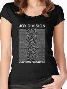 joy division- unknown pleasures Women's Fitted Scoop T-Shirt