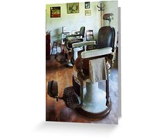 Two Barber Chairs Greeting Card
