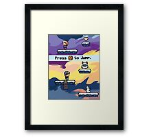 Pixel Video Game Framed Print