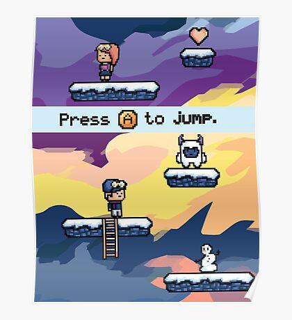 Pixel Video Game Poster