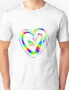 Rainbow dragon heart T-Shirt