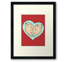 Pug Love Framed Print
