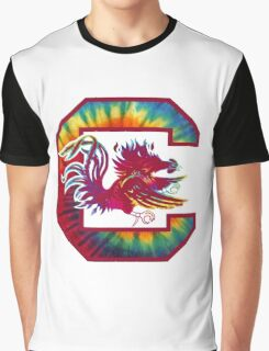 Trippy Gamecock Graphic T-Shirt