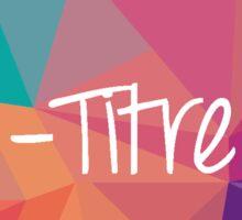 le-titre.fr logo cloud-polygon Sticker
