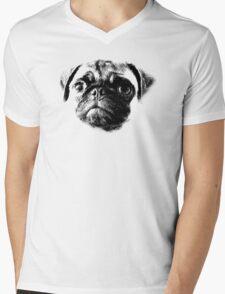 Tough Life Pug Mens V-Neck T-Shirt