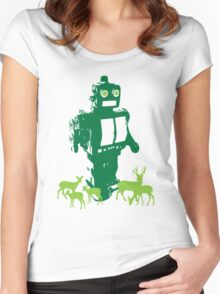 Robots and Nature II Women's Fitted Scoop T-Shirt