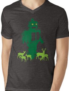 Robots and Nature II Mens V-Neck T-Shirt
