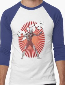 UltraMan Japanese Fun Time Men's Baseball ¾ T-Shirt