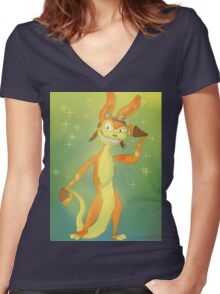 Daxter-tude Women's Fitted V-Neck T-Shirt