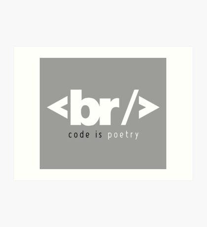 code is poetry Art Print