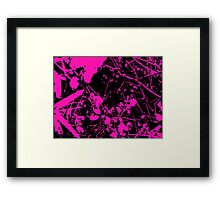 Abstract Pink and Black Framed Print
