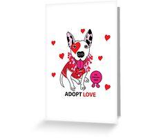 Theresa Pit bull Princess of Love Greeting Card