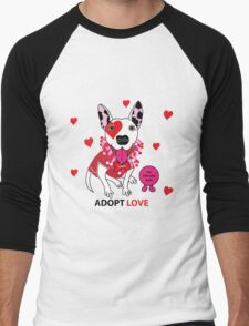 Theresa Pit bull Princess of Love Men's Baseball ¾ T-Shirt