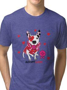 Theresa Pit bull Princess of Love Tri-blend T-Shirt