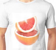 Sliced grapefruit on white background Unisex T-Shirt