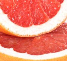 Sliced grapefruit on white background Sticker