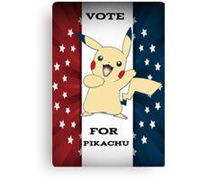 Vote For Pikachu Canvas Print