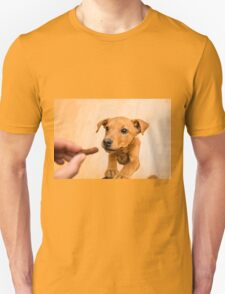 playful brown dog, indoors Unisex T-Shirt