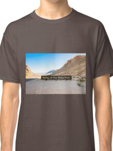Valley of Fire State Park, Nevada. Entrance sign  Classic T-Shirt