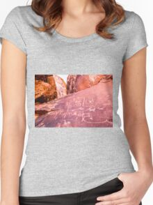 Petroglyphs at Valley of Fire State Park, Nevada Women's Fitted Scoop T-Shirt