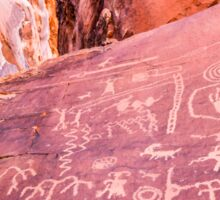 Petroglyphs at Valley of Fire State Park, Nevada Sticker