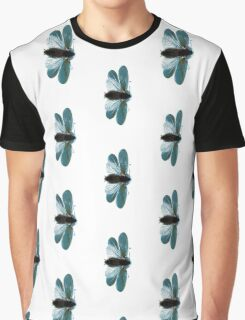 Blue Moth Graphic T-Shirt