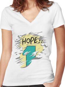 Hope!! Women's Fitted V-Neck T-Shirt