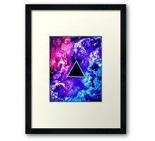 Solar Warp: Black Hole Trinity Framed Print