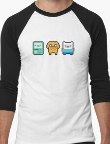8-bit Jake Finn & Beemo Men's Baseball ¾ T-Shirt