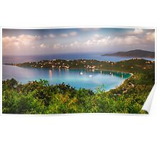 Magens Bay After Sunset Panoram, St Thomas USVI Poster