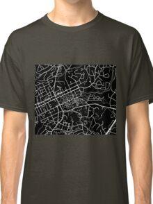 Chapel Hill Map - Black Classic T-Shirt
