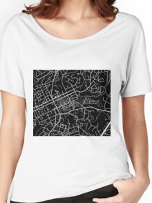 Chapel Hill Map - Black Women's Relaxed Fit T-Shirt