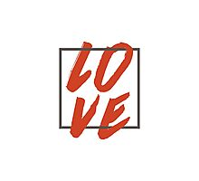 Love Brush Hand Lettering Photographic Print