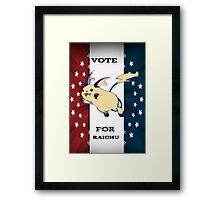 Vote For Raichu Framed Print