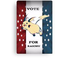 Vote For Raichu Metal Print