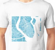 Charleston, SC Map - Baby Blue Unisex T-Shirt