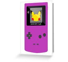 Pikachu Game Boy Greeting Card
