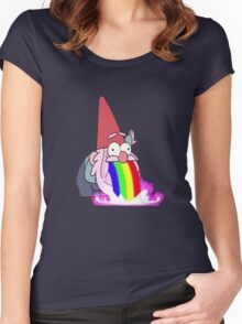 Gravity Falls- Barfing Gnome Women's Fitted Scoop T-Shirt