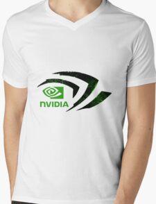 Nvidia Logo Mens V-Neck T-Shirt