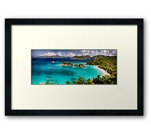 Beach with Turquoise Waters Framed Print