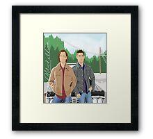 Sam and Dean Supernatural Framed Print