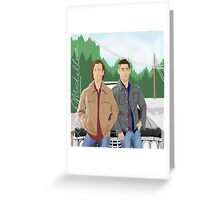 Sam and Dean Supernatural Greeting Card