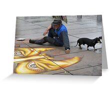 Sidewalk Art Greeting Card