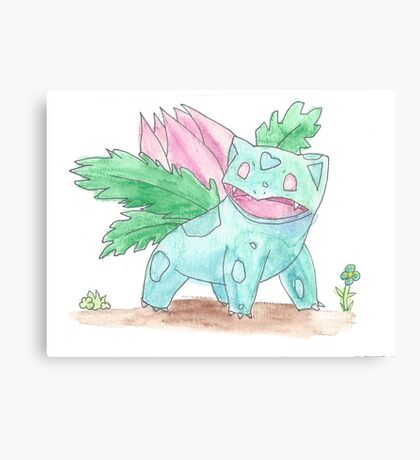 Ivysaur Watercolour Canvas Print