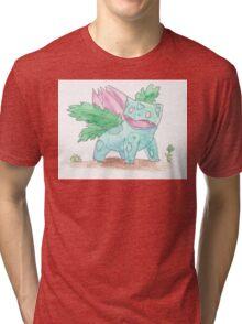 Ivysaur Watercolour Tri-blend T-Shirt