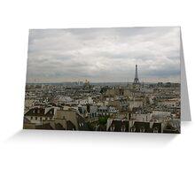 Paris Below Greeting Card