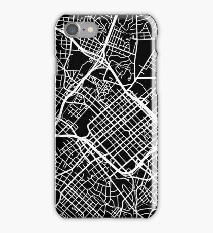 Charlotte Map - Black iPhone Case/Skin