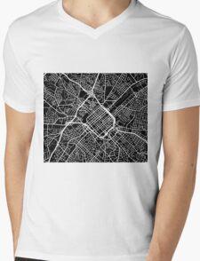 Charlotte Map - Black Mens V-Neck T-Shirt