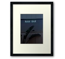 Raw Bar Framed Print