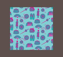 Kimono Girl - Aqua & Pink Unisex T-Shirt